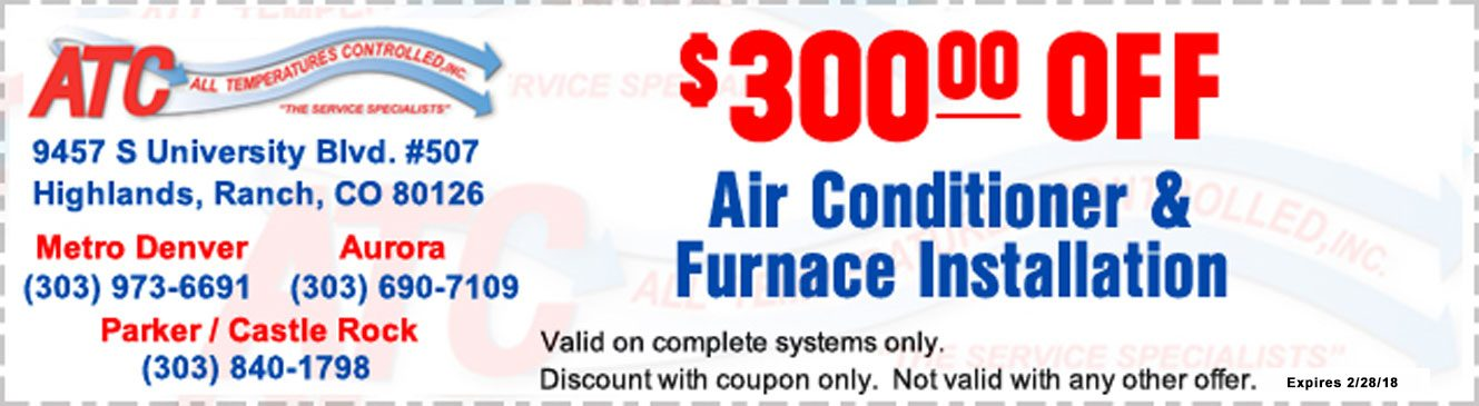 All Temperatures Controlled Coupons $300 off