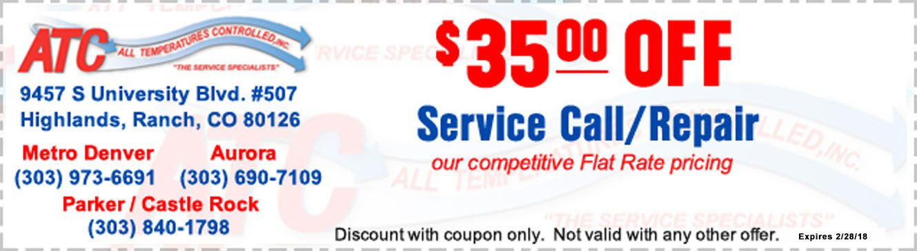 All Temperatures Controlled Coupons $35 off service call/repair